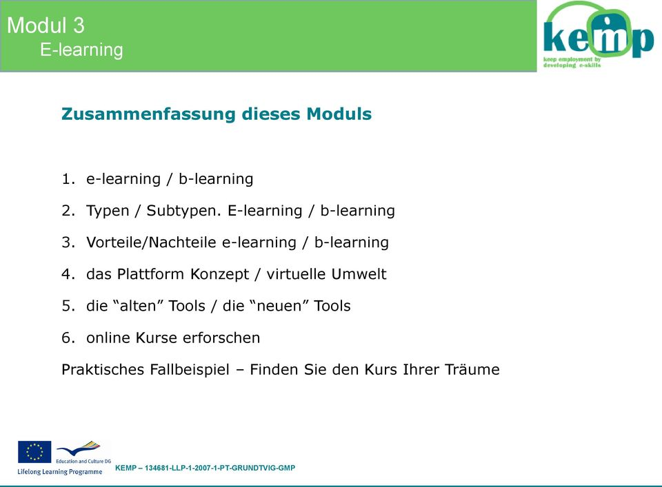 Vorteile/Nachteile e-learning / b-learning 4.