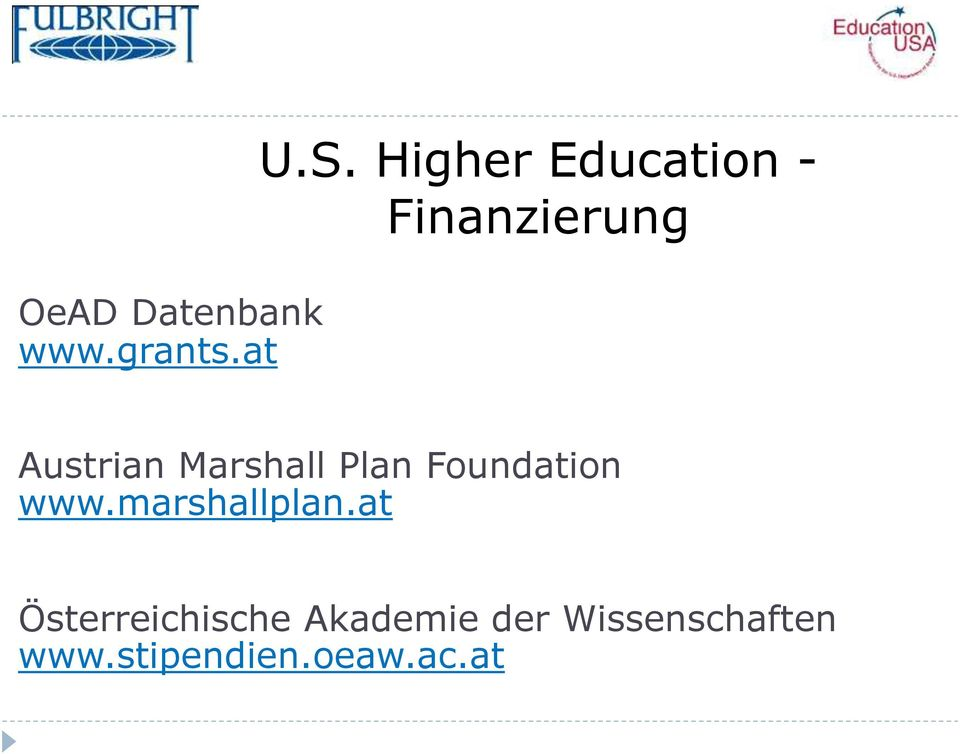 Marshall Plan Foundation www.marshallplan.