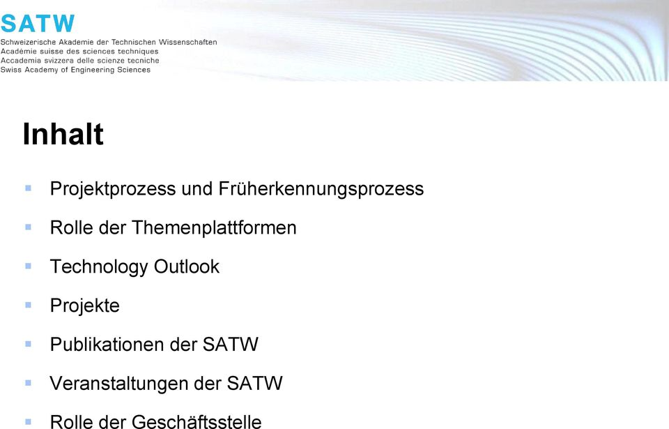 Themenplattformen Technology Outlook