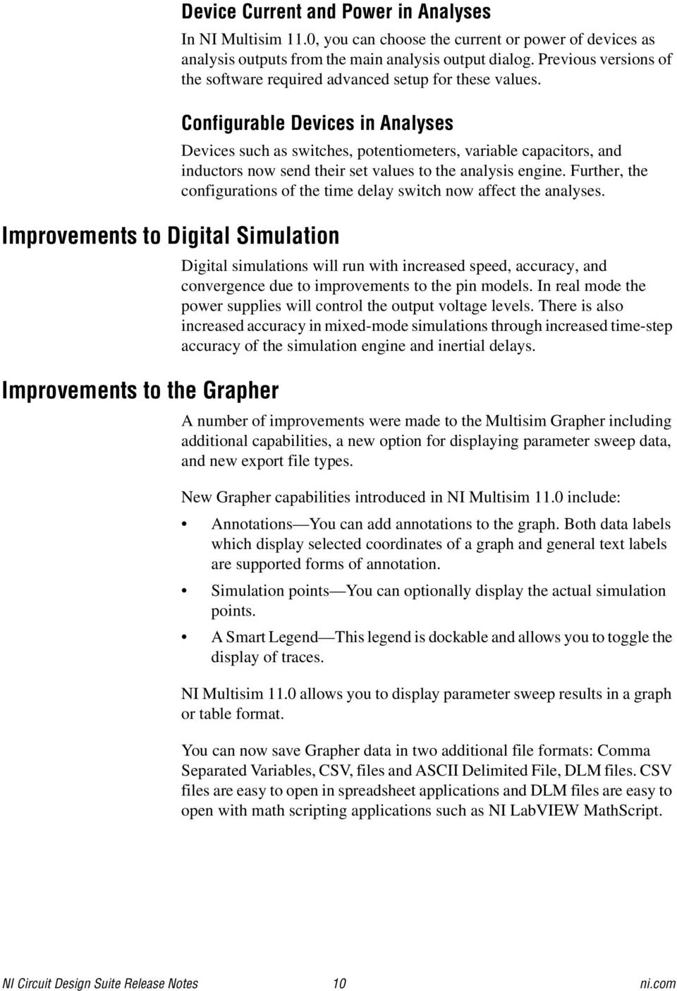 Ni Circuit Design Suite Pdf Your Own Multisim Like And Simulation Application Configurable Devices In Analyses Improvements To Digital The Grapher Such As Switches