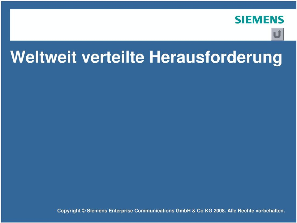 Copyright Siemens Enterprise
