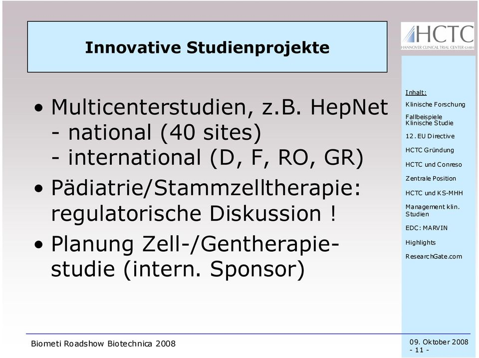 RO, GR) Pädiatrie/Stammzelltherapie: regulatorische