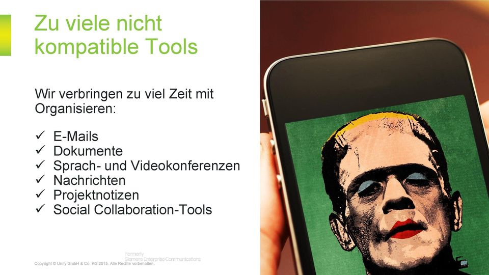 Nachrichten Projektnotizen Social Collaboration-Tools Copyright