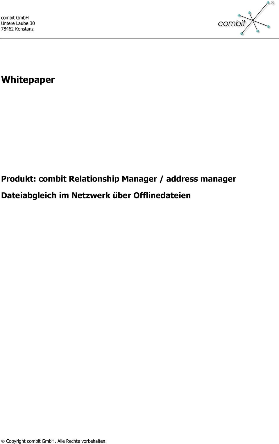 Relationship Manager / address manager