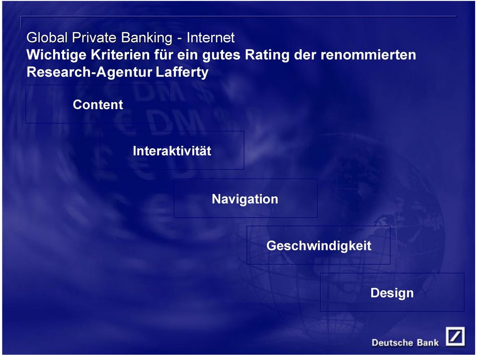 renommierten Research-Agentur Lafferty