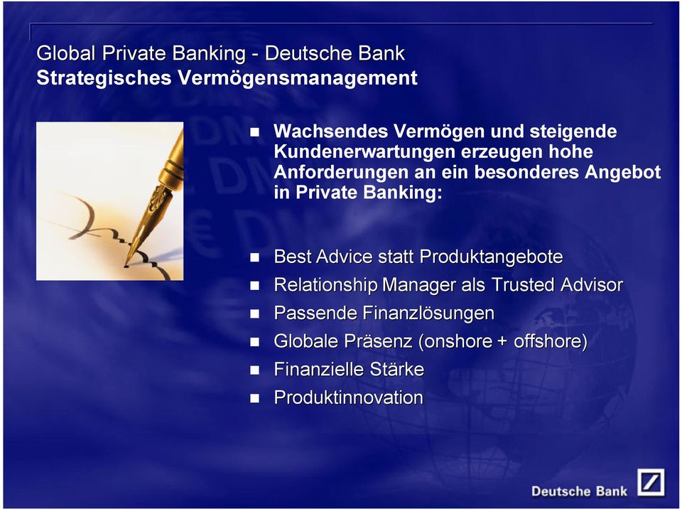 Private Banking: Best Advice statt Produktangebote Relationship Manager als Trusted Advisor