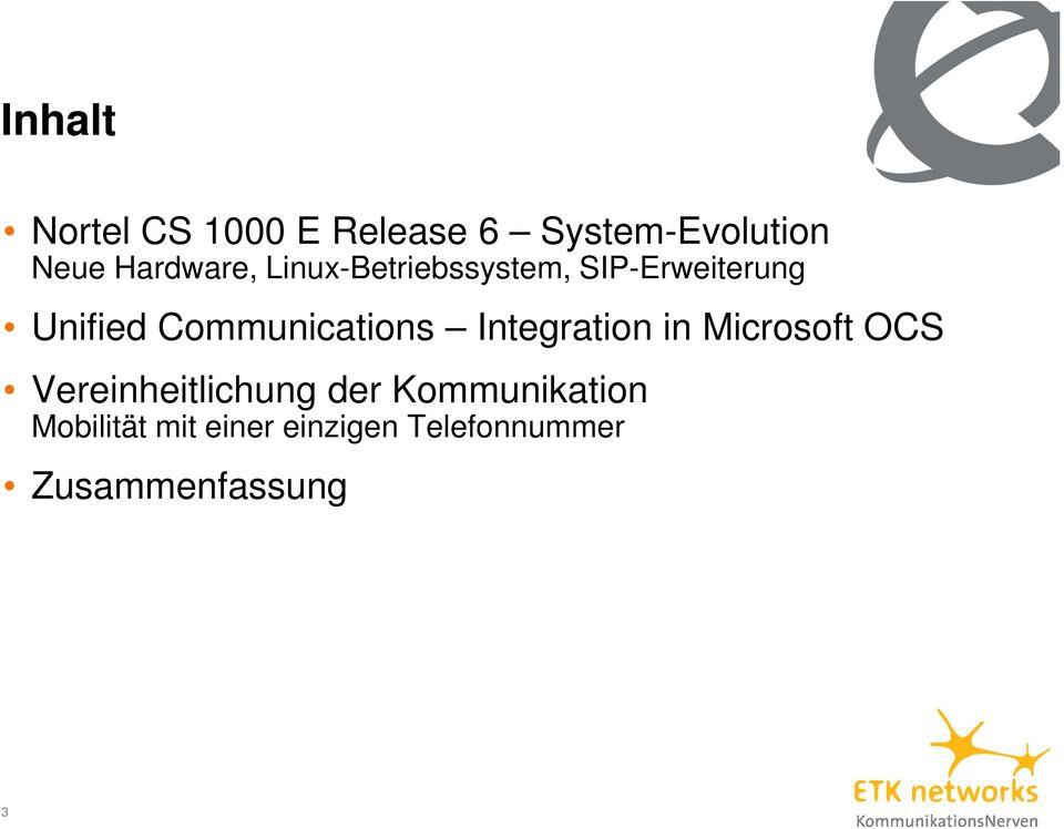 Communications Integration in Microsoft OCS Vereinheitlichung