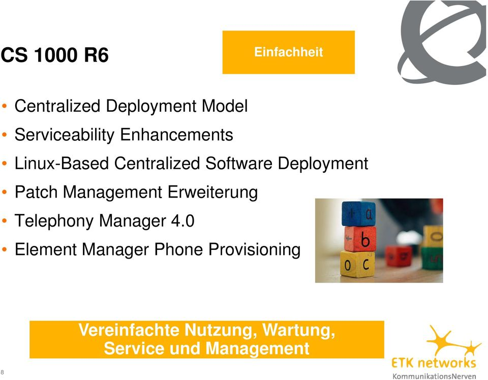 Management Erweiterung Telephony Manager 4.
