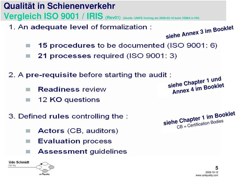 Certification Bodies 5 siehe Chapter 1 im Booklet
