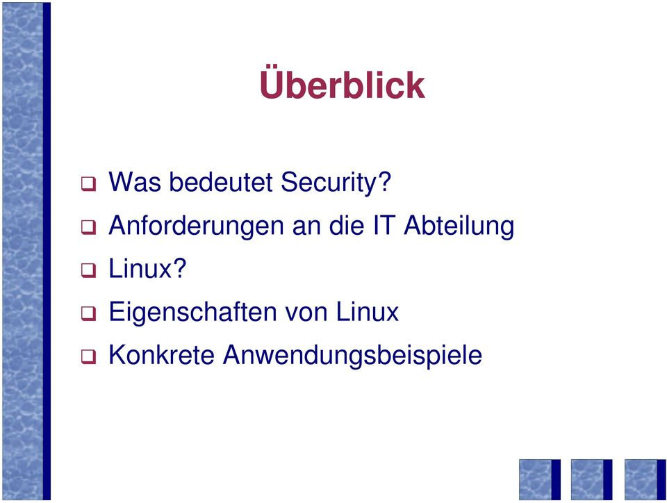 Abteilung Linux?