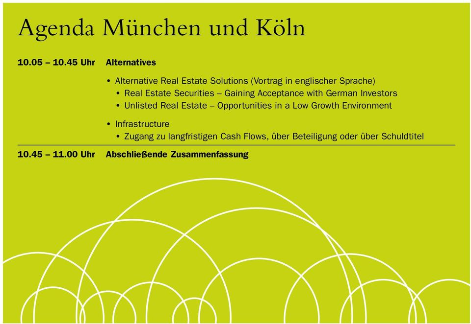 Estate Securities Gaining Acceptance with German Investors Unlisted Real Estate Opportunities
