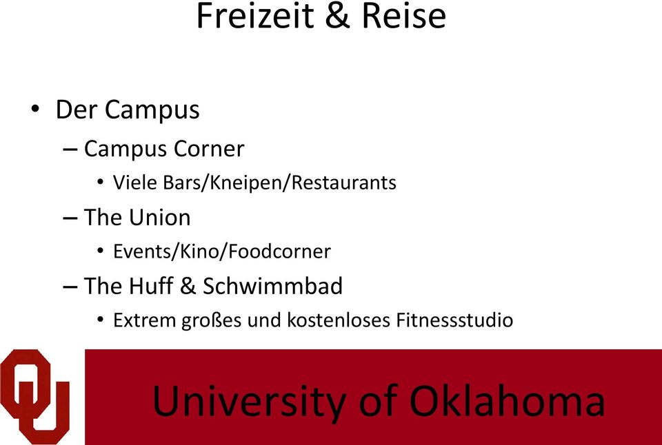Events/Kino/Foodcorner The Huff &