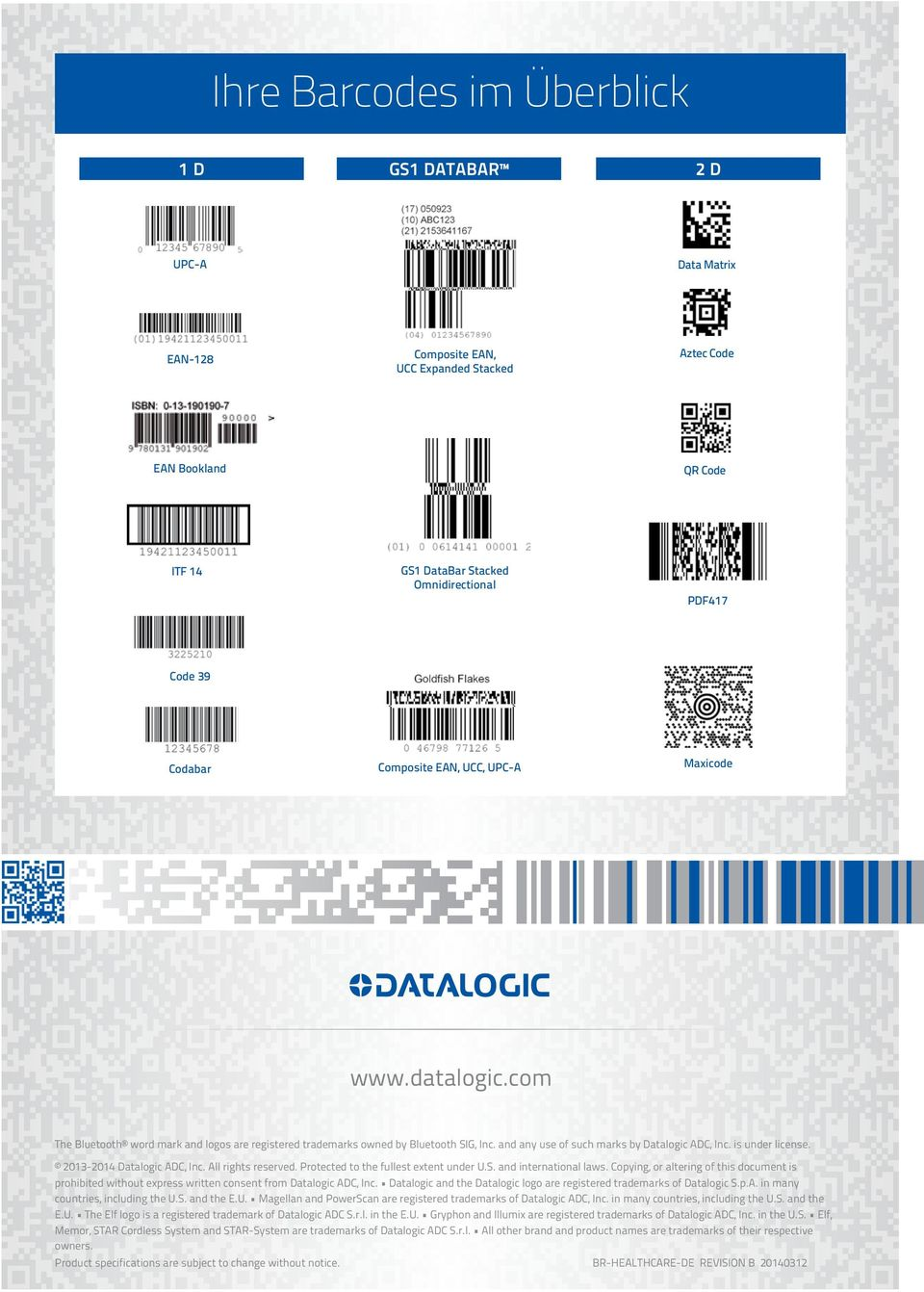 is under license. 2013-2014 Datalogic ADC, Inc. All rights reserved. Protected to the fullest extent under U.S. and international laws.