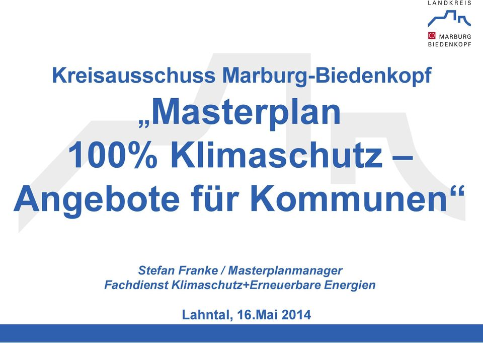 Franke / Masterplanmanager Fachdienst
