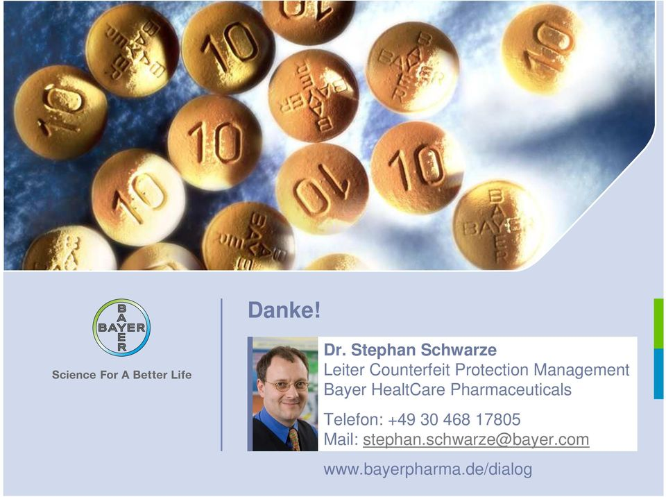 Management Bayer HealtCare Pharmaceuticals