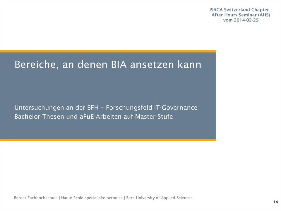 Forschungsfeld IT-Governance