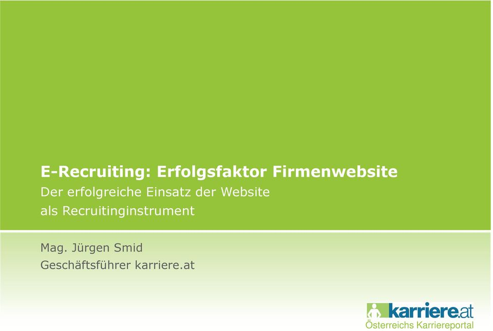 Recruitinginstrument Mag.