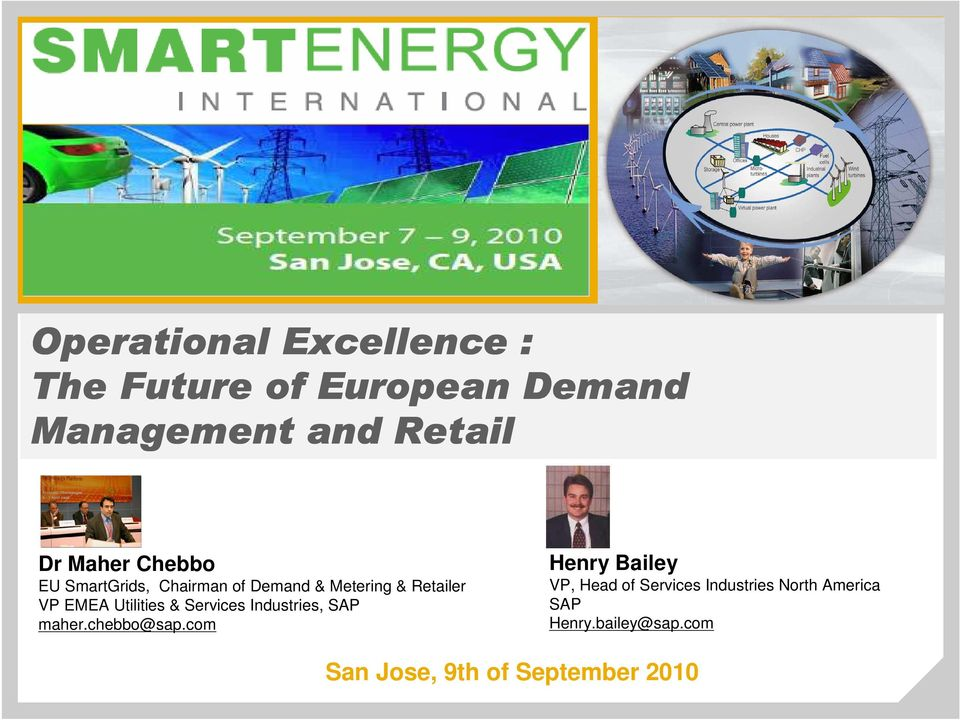 Utilities & Services Industries, SAP maher.chebbo@sap.