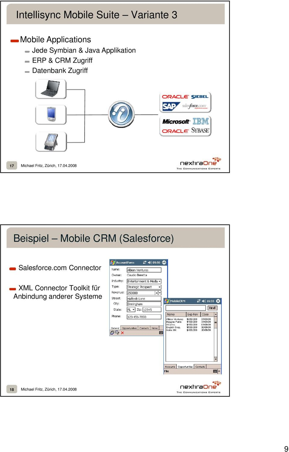 laptop pda phone 17 Beispiel Mobile CRM (Salesforce) Salesforce.