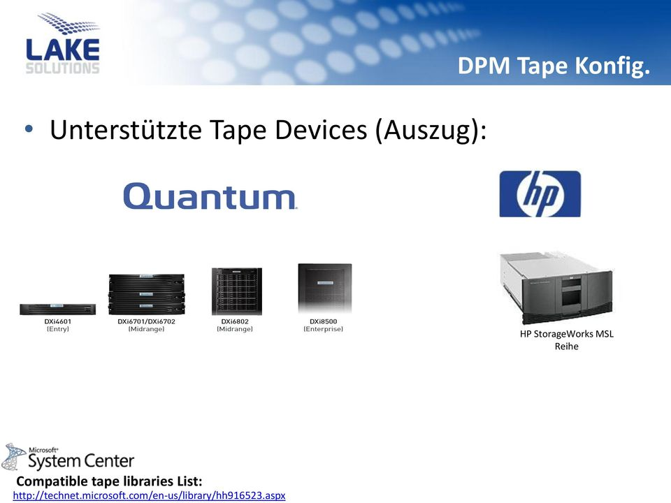 HP StorageWorks MSL Reihe Compatible tape