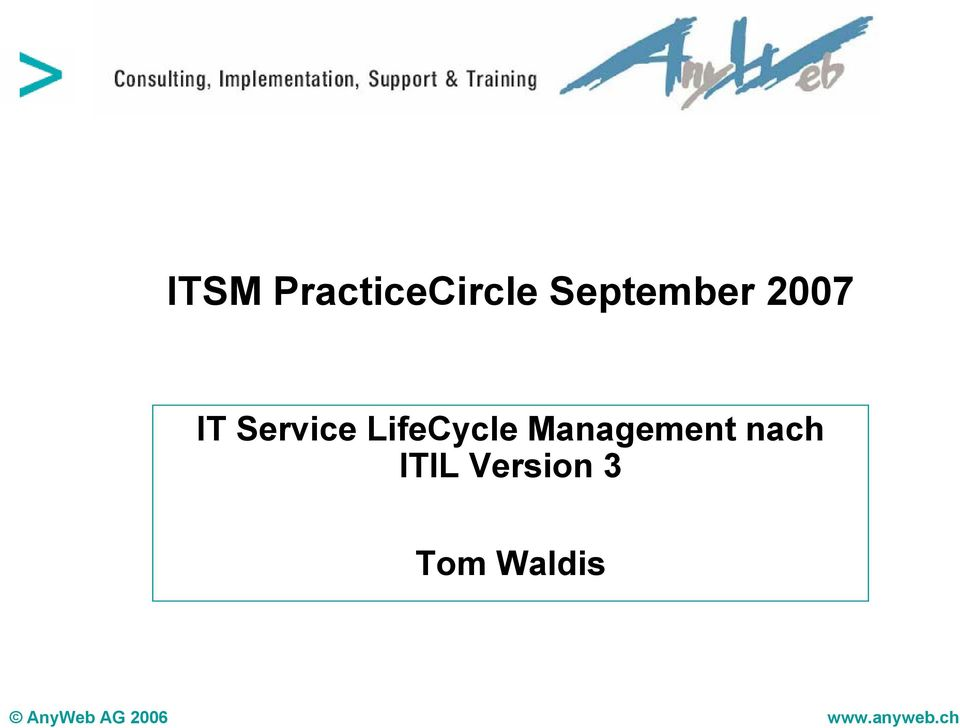 Management nach ITIL Version 3