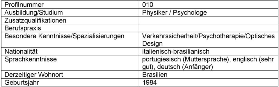 Verkehrssicherheit/Psychotherapie/Optisches Design