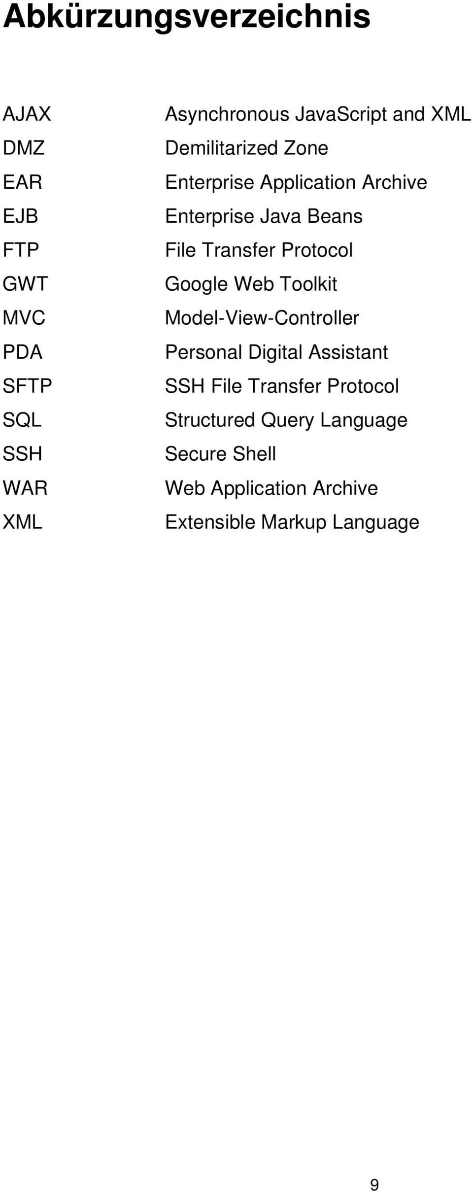 Transfer Protocol Google Web Toolkit Model-View-Controller Personal Digital Assistant SSH File