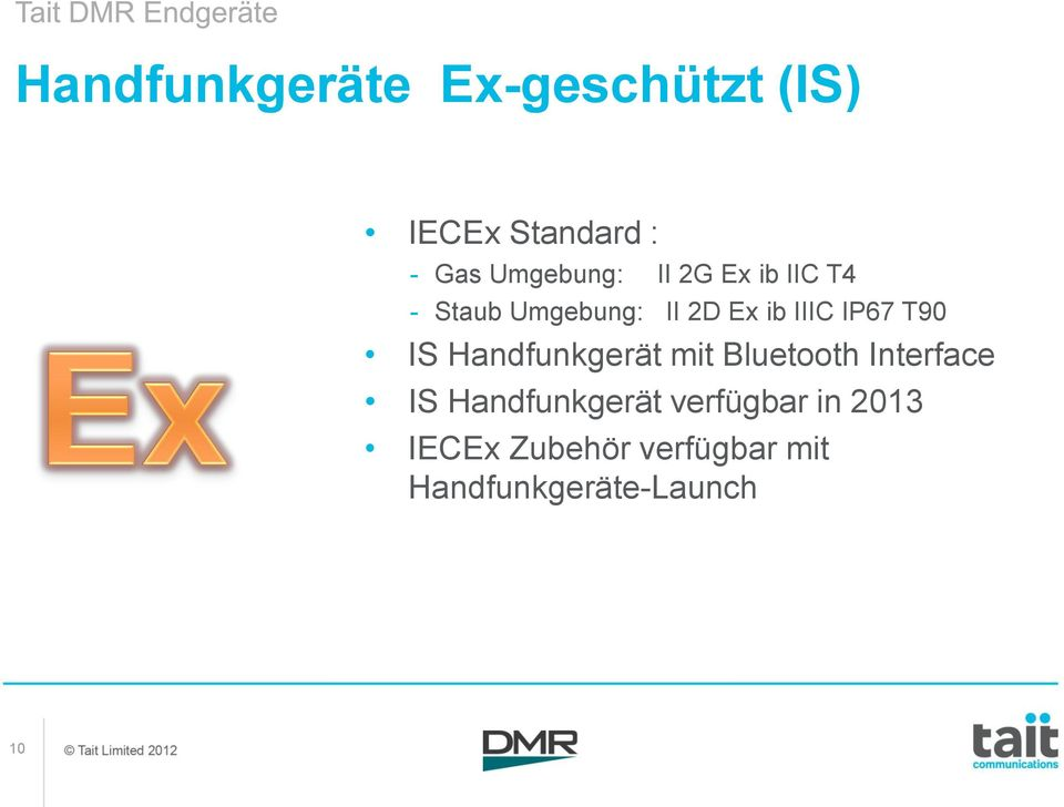IP67 T90 IS Handfunkgerät mit Bluetooth Interface IS
