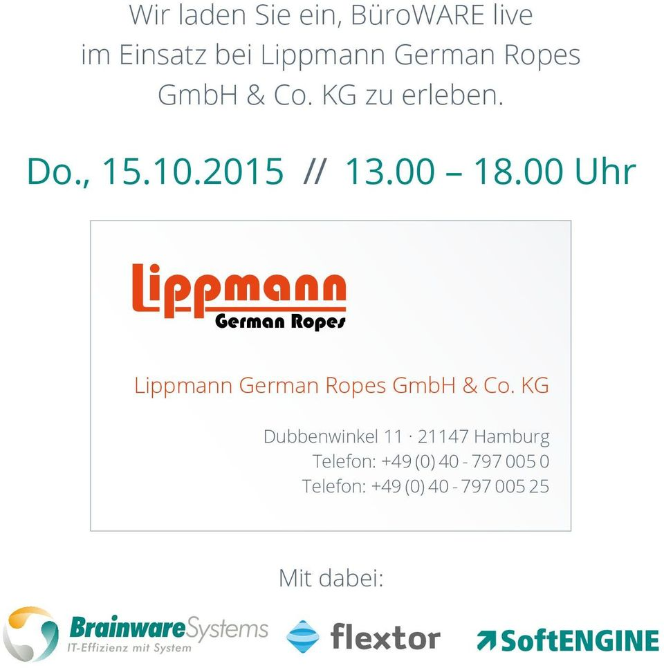 00 Uhr Lippmann German Ropes GmbH & Co.