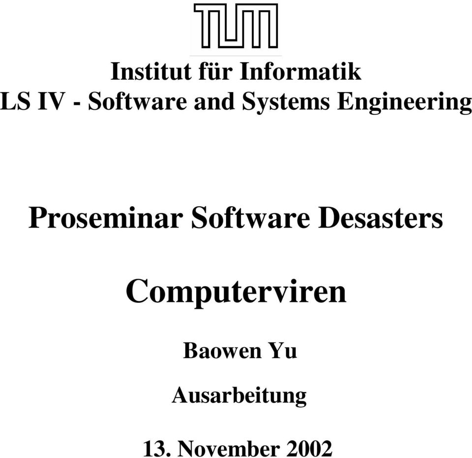 Proseminar Software Desasters
