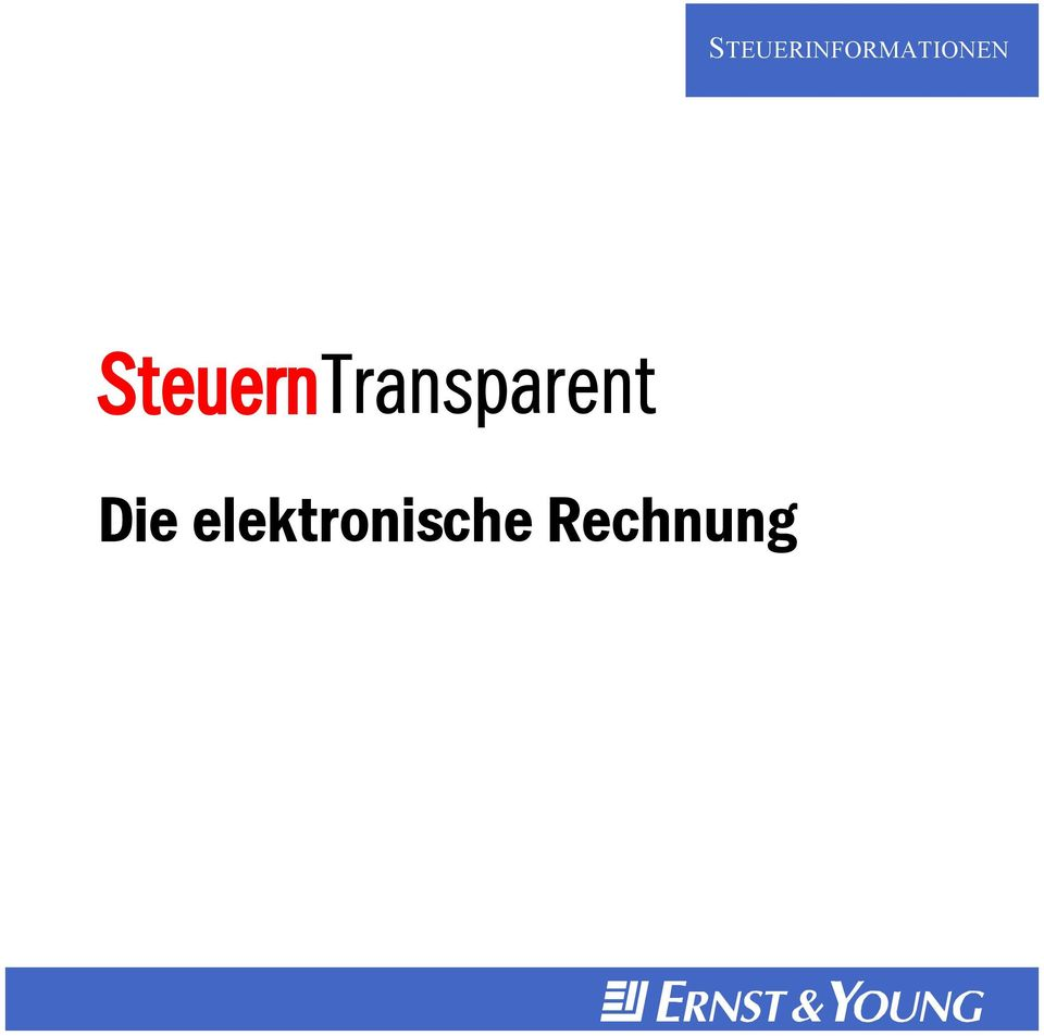 steuerinformationen steuerntransparent die elektronische. Black Bedroom Furniture Sets. Home Design Ideas