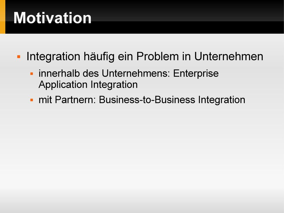 Unternehmens: Enterprise Application