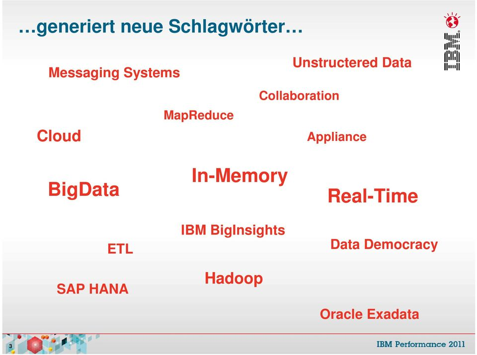 Appliance BigData ETL SAP HANA In-Memory IBM