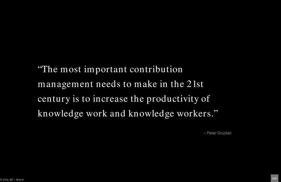 increase the productivity of knowledge work