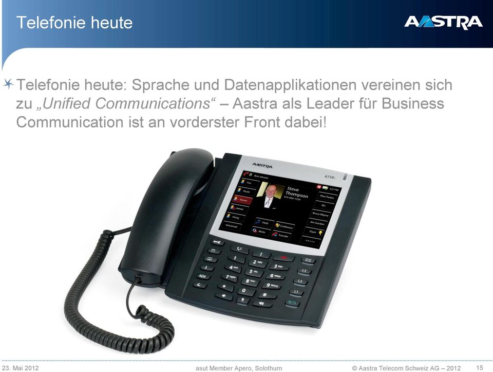Business Communication ist an vorderster Front dabei! 23.