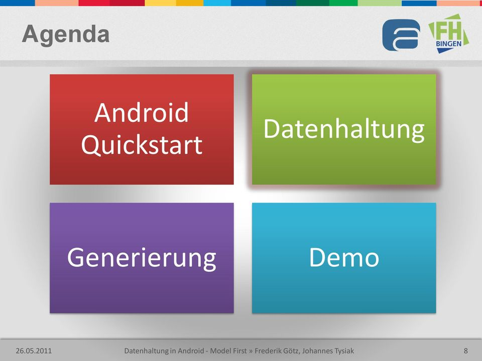05.2011 Datenhaltung in Android -