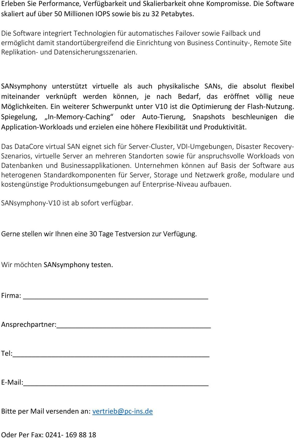 Datensicherungsszenarien.
