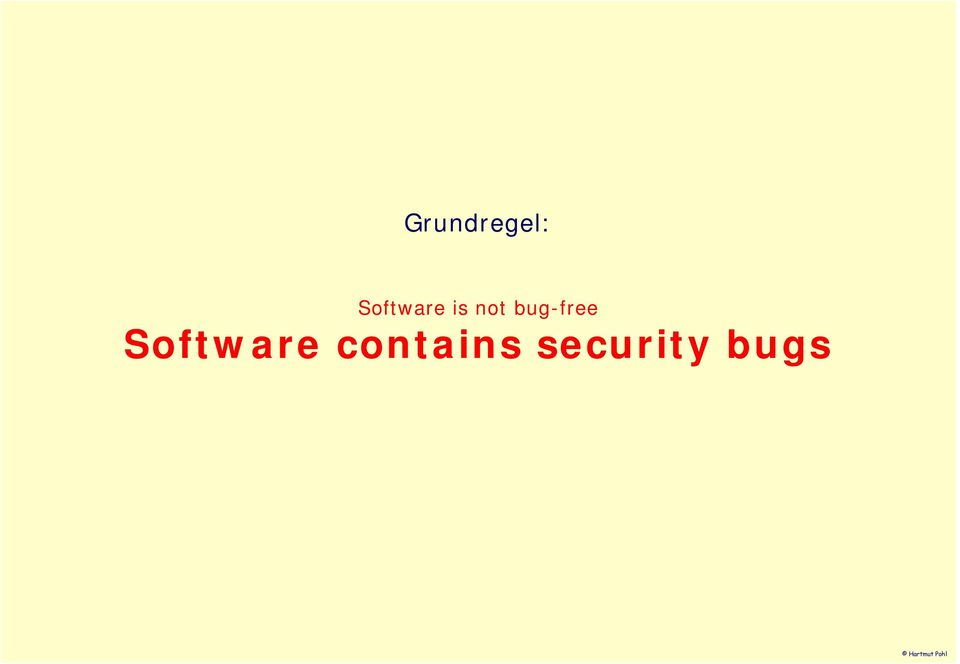 Software contains