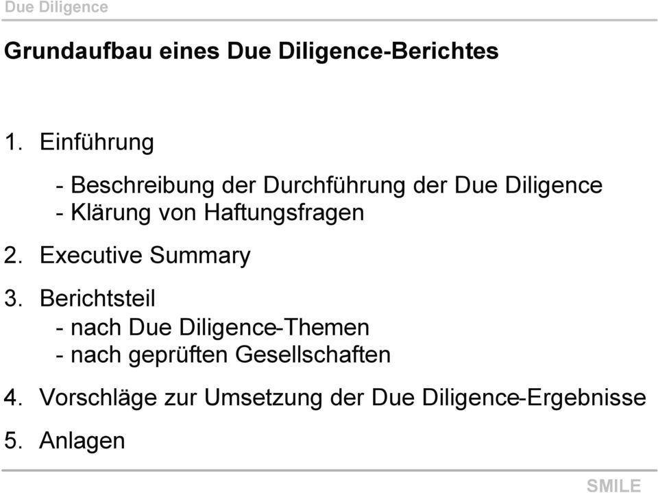Haftungsfragen 2. Executive Summary 3.