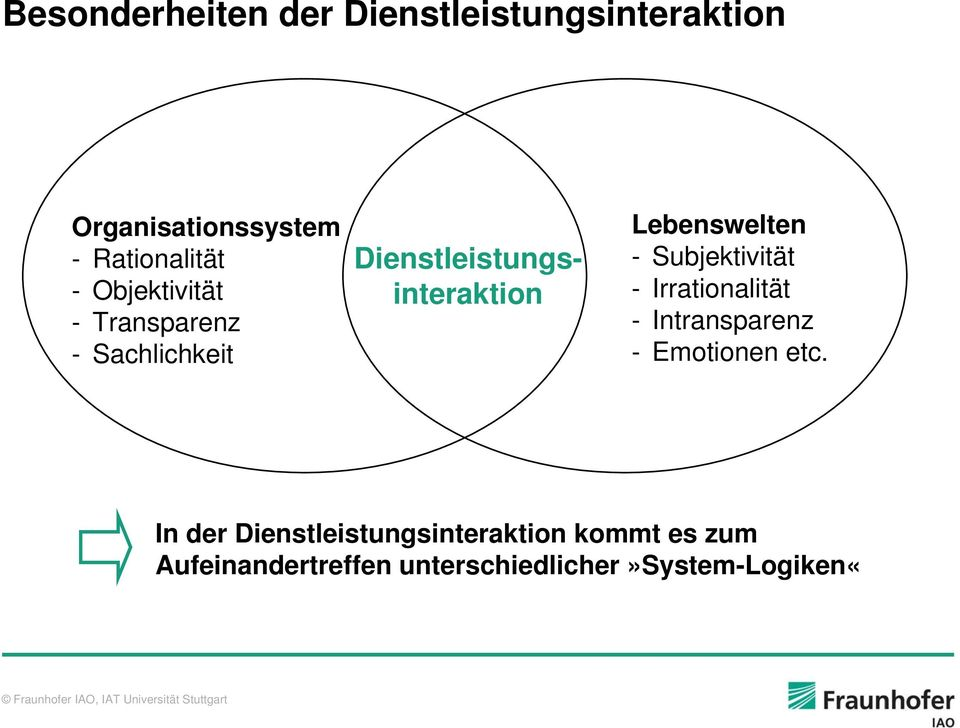 - Subjektivität - Irrationalität - Intransparenz - Emotionen etc.