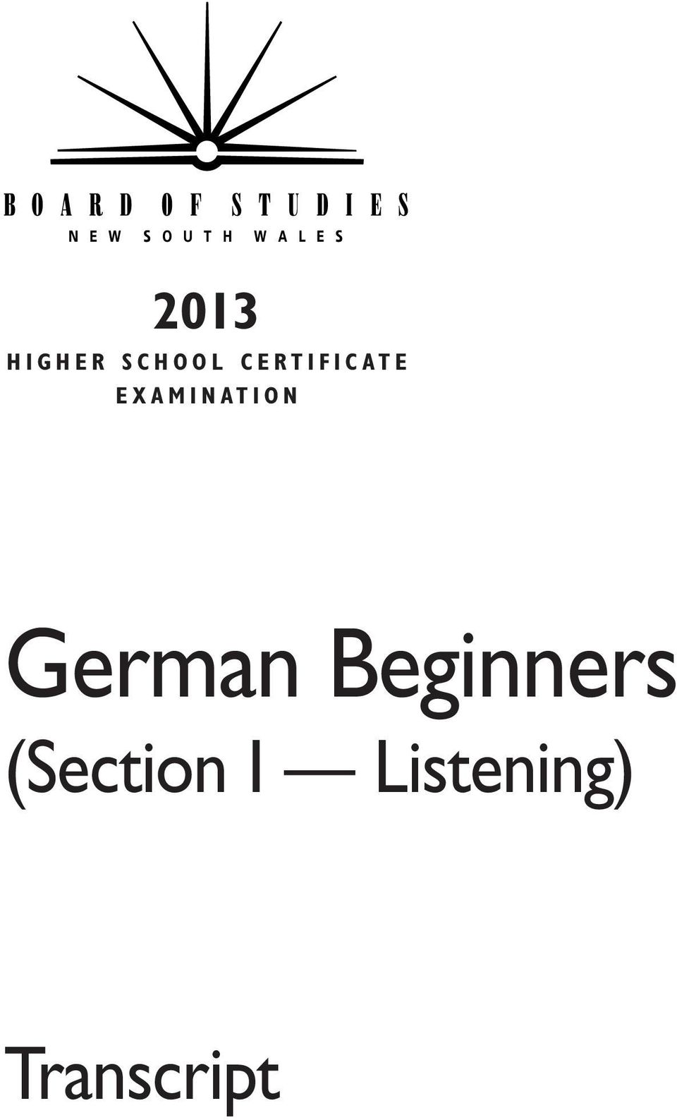 N A T I O N German Beginners