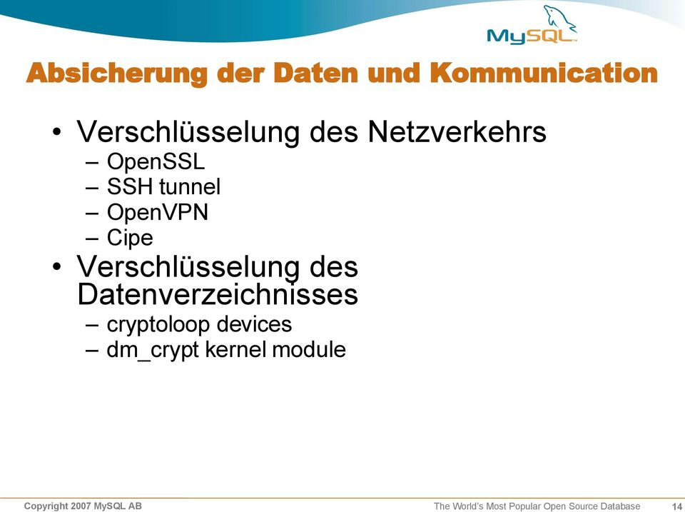 Datenverzeichnisses cryptoloop devices dm_crypt kernel module