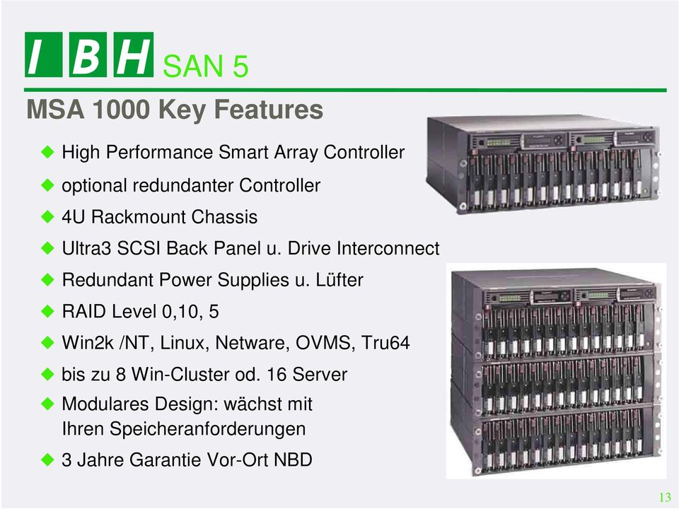 Drive Interconnect Redundant Power Supplies u.