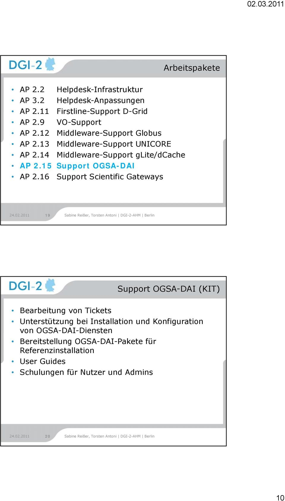 15 Support OGSA-DAI AP 2.