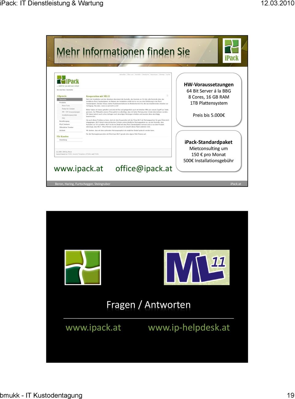 at ipack-standardpaket Mietconsulting um 150 pro Monat 500