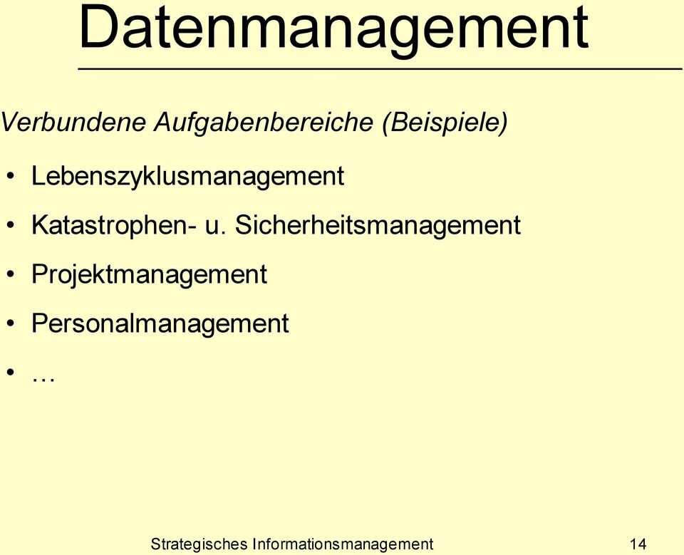 Sicherheitsmanagement Projektmanagement