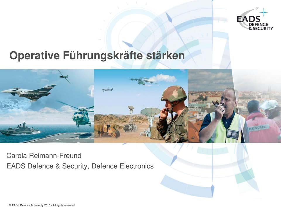 Security, Defence Electronics EADS
