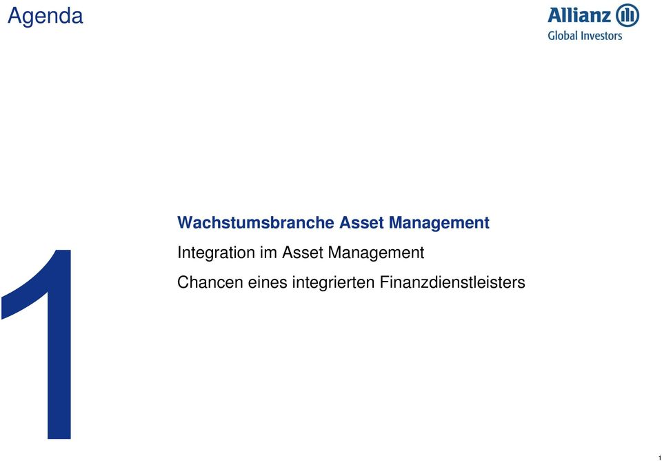 Asset Management Chancen eines