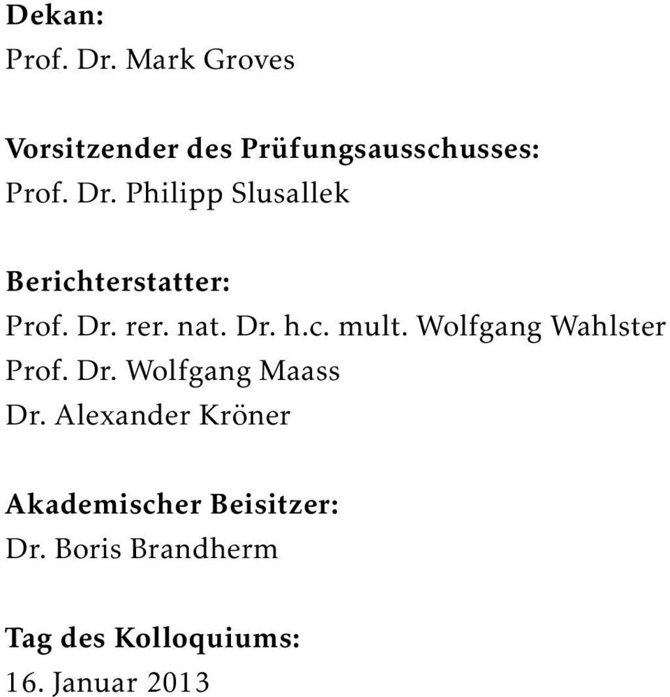 Wolfgang Wahlster Prof. Dr. Wolfgang Maass Dr.