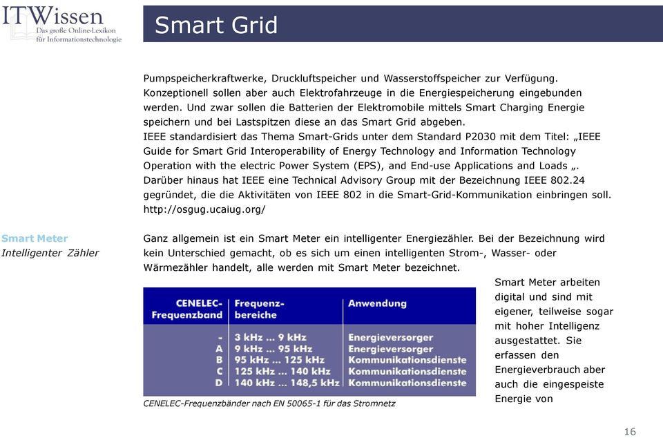 IEEE standardisiert das Thema Smart-Grids unter dem Standard P2030 mit dem Titel: IEEE Guide for Smart Grid Interoperability of Energy Technology and Information Technology Operation with the